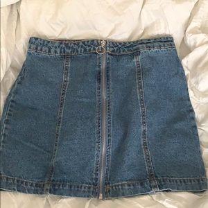 Forever 21 Zipper Jean Skirt